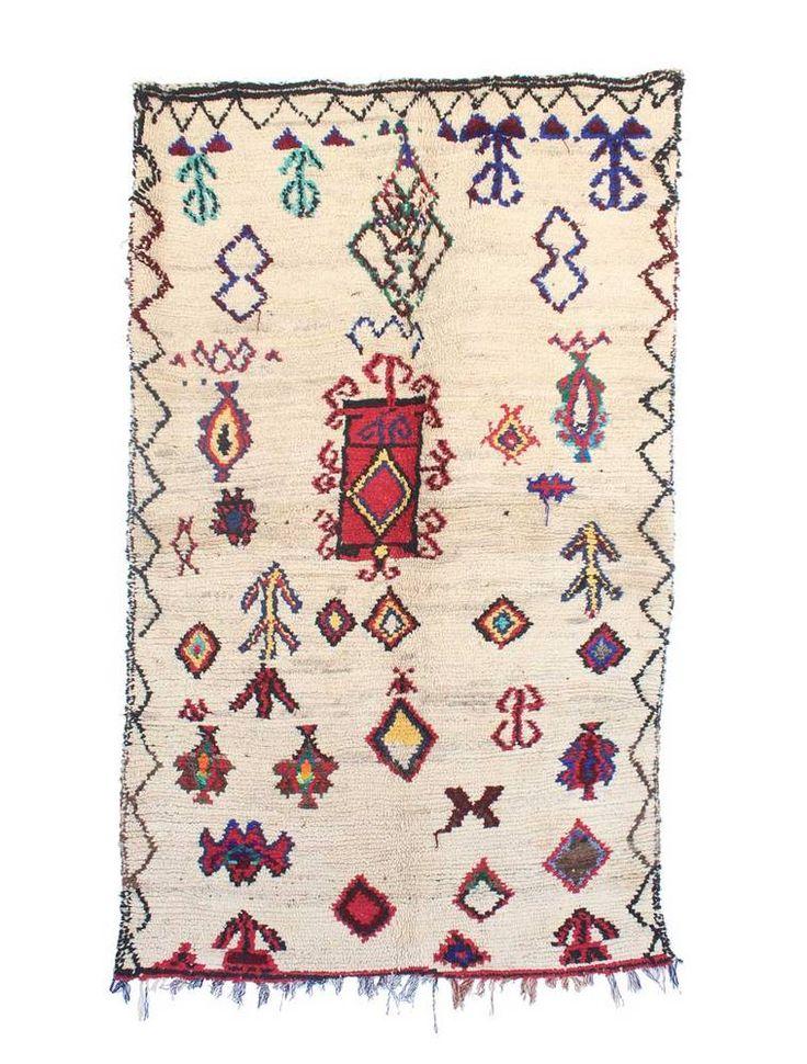 Indigo&Lavender Vintage Azilal Moroccan Berber Rug