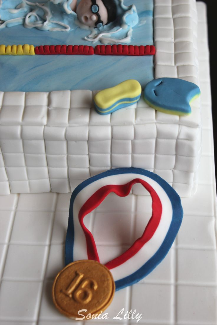 Swimming pool cake, swimmer cake. https://www.facebook.com/home.php#!/pages/Sonias-Cakes-Cookies-Cupcakes/462406400477505
