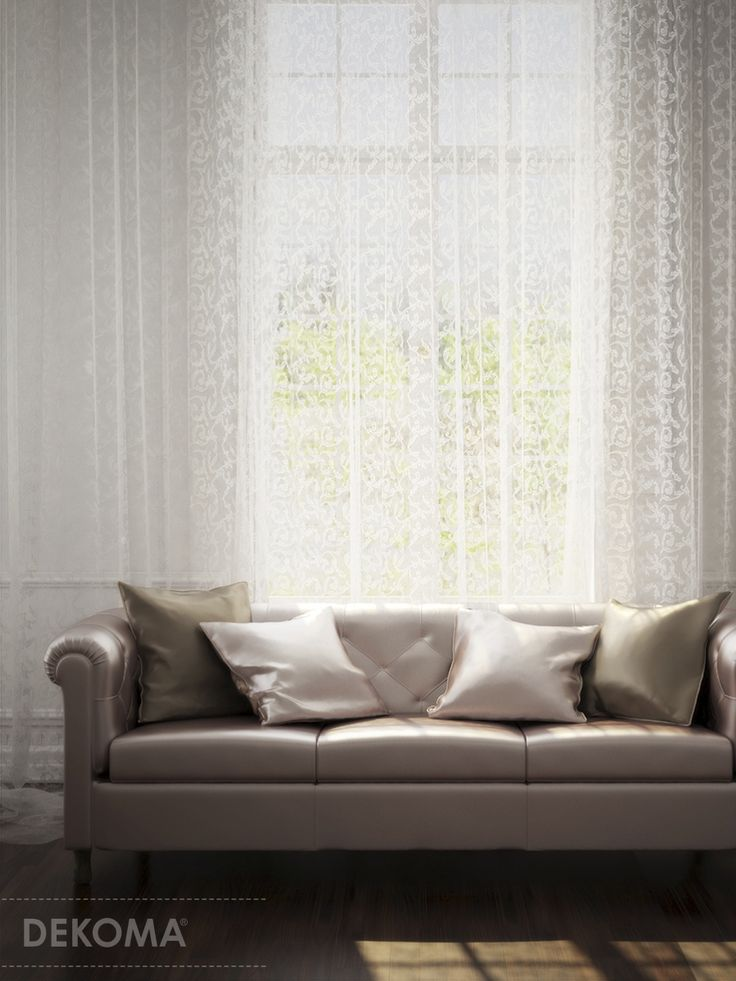 Anita-  delicate decorative material in three subtle colors. An elaborate pattern of plant tendrils makes it similar net curtains of old. The material is nice in touch and easy to arrange. Anita is also economical (290 cm of width).#interiors #decorations #fabrics #curtains
