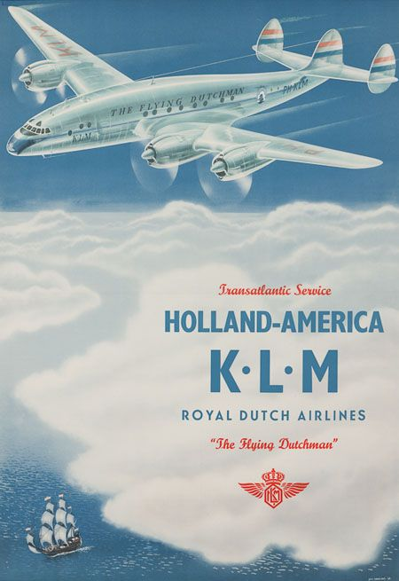 European airlines;Holland - America  Royal Dutch Airlines