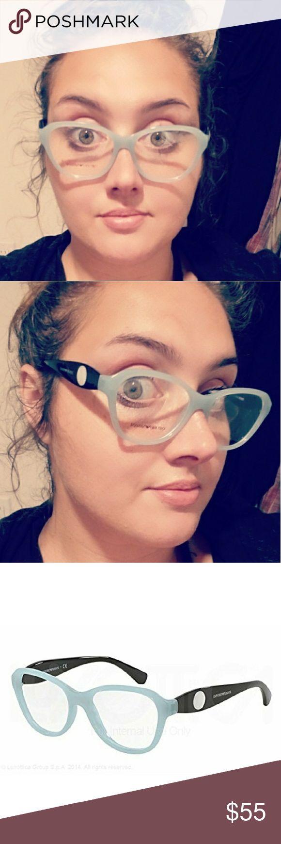 👓Emporio Armani Designer frames👓 EA3047 Emporio Armani Black and powder blue frames !  5328 54□16 140  Bundle 2 or more items & Save 15%  Fast shipper / top rated seller  💪🌻❤ Pretty~Vibe~Finds . Emporio Armani Accessories Glasses