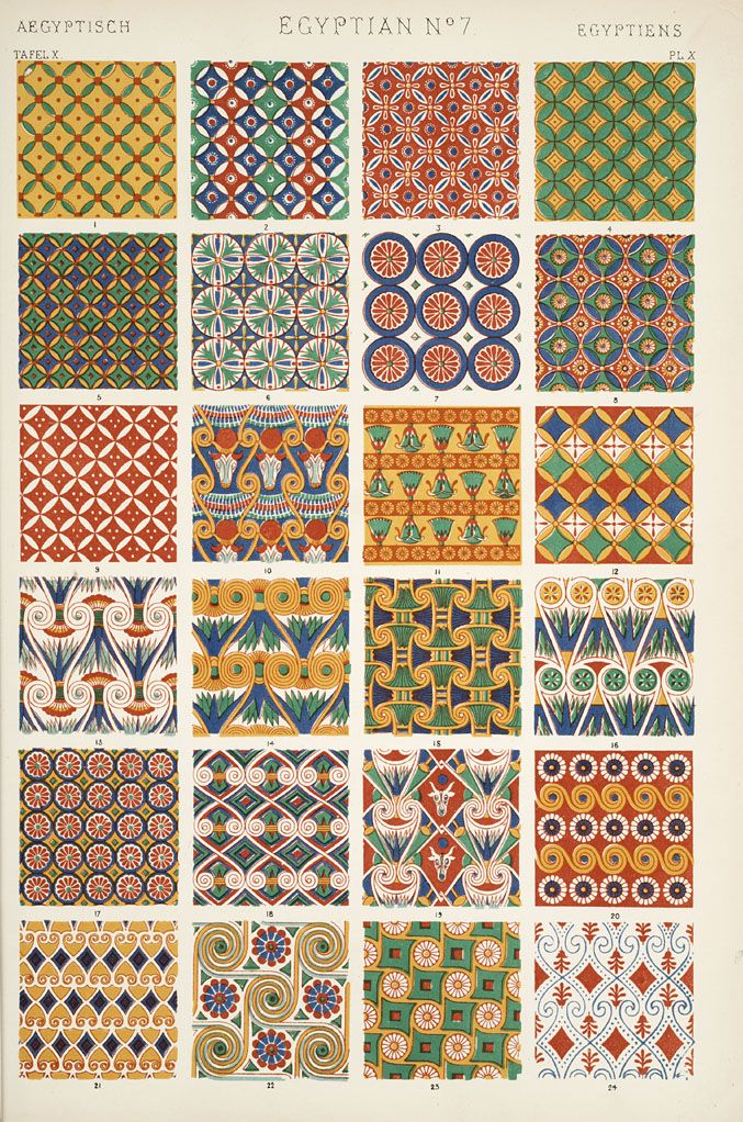 Jones, Owen, 1809-1874. / The grammar of ornament  (1910)  Egyptian ornament