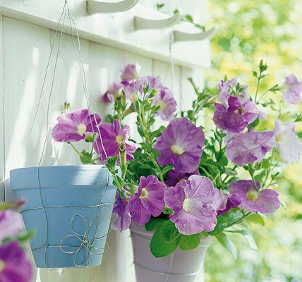 Draht-Halterung für Blumentöpfe - Kreative Deko für Balkon und Garten 14