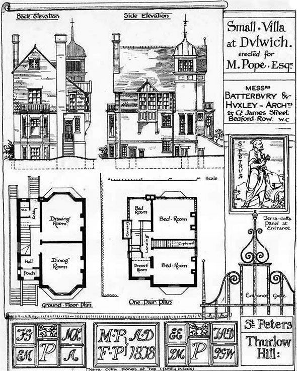 31 best drawings images on pinterest architectural for Brodie house plan