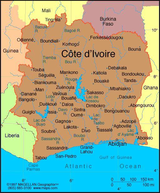 Cote d'Ivoire Atlas: Maps and Online Resources | Infoplease.com
