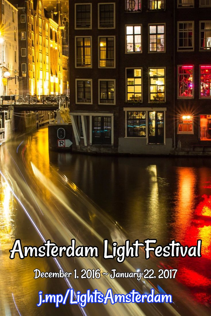 The Fifth edition of the Amsterdam Light Festival -- 2016-2017 -- is on its way.