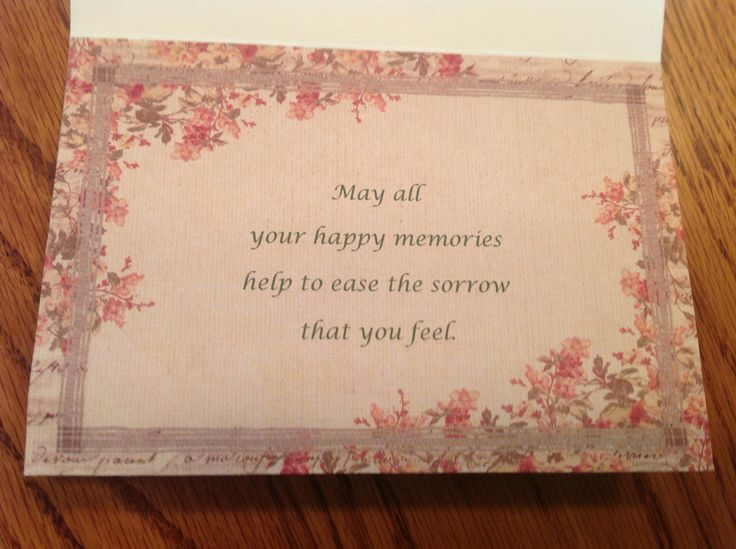 Sympathy card in quote