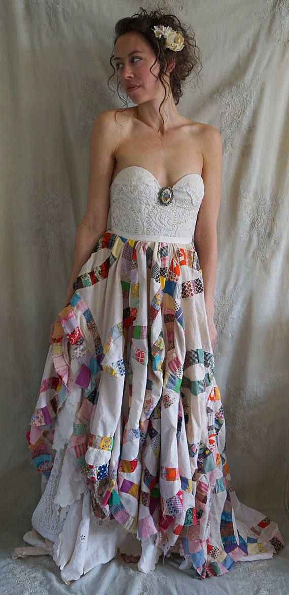 NEW Attic Gown... bustier wedding dress formal whimsical boho