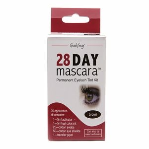 Godefroy 28 Day Mascara Permanent Eyelash Tint Kit, Brown