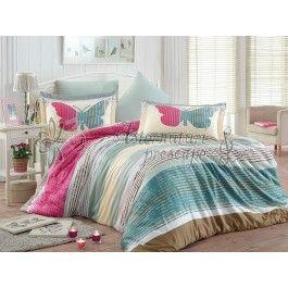Hobby Home Nicoletta - lenjerie de pat din bumbac satinat roz 2 persoane