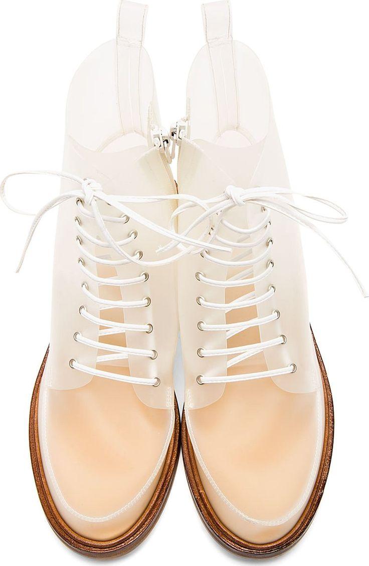 MM6 Maison Martin MARGIELA   White Transparent Boots