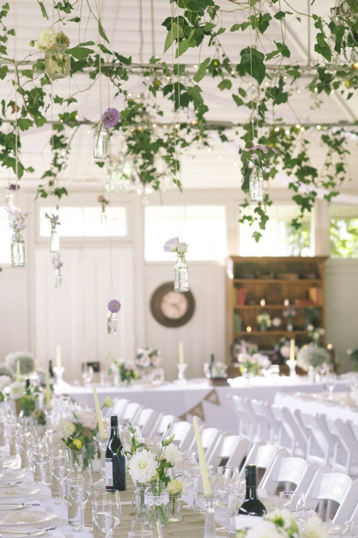 Gorgeous foliage dripping from the ceiling. Photography by Caspix Photography / caspix.com.au, Floral Design by Emily Cooper Floral Decorator / emilycooperfloraldecorator.com.au