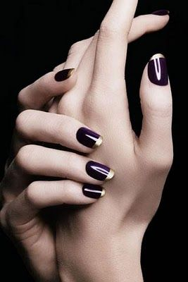 Rose Gold and Purple French Manicure - what's not to love?
