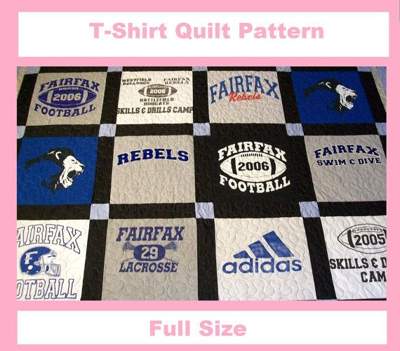 Tshirt Quilt Pattern PDF  EBook  How to Make a by quiltsbykandy, $6.00