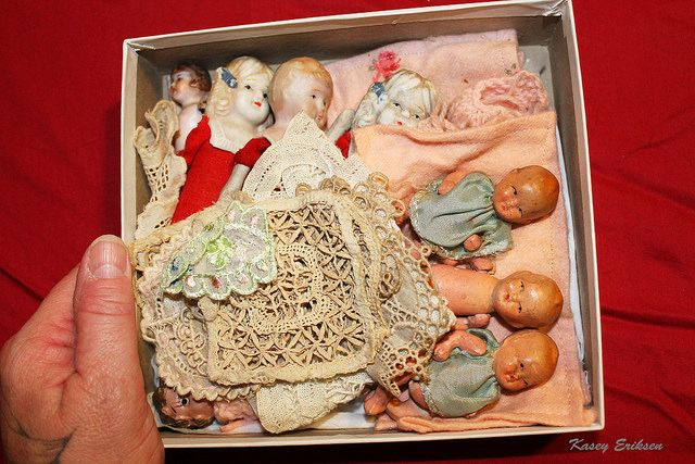 Vintage bisque and celluloid dolls