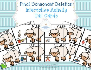 Final Consonant Deletion - /P/ Find the Tail Cards *Freebie*