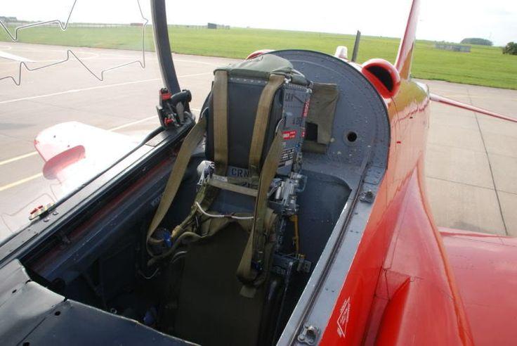Red Arrows BAe Hawk rear cockpit. (Britmodeller)