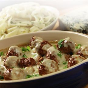 Quorn Italian style Meatballs in Blue Cheese Sauce