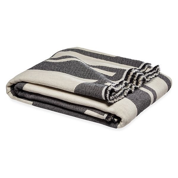 Gia Modern Throw in Black/Natural - Modern Throws - Modern Bedroom Furniture - Room & Board