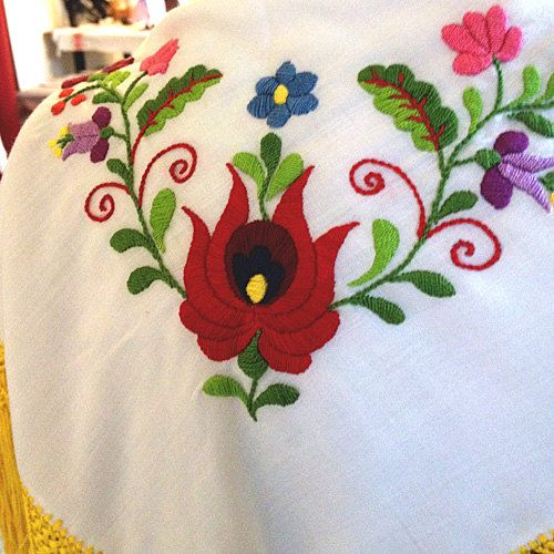 PDF embroidery pattern Matyó floral motifs from by KateNRose