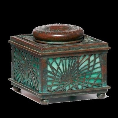 Beautiful Art Deco Inkwell ~ Tiffany