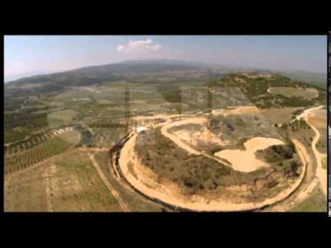 Amphipolis, Macedonia Greece -  VIEW FROM HELICOPTER - Αμφίπολη ΕΙΚΟΝΑ ΑΠΟ ΕΛΙΚΟΠΤΕΡΟ | Amfipolis tube