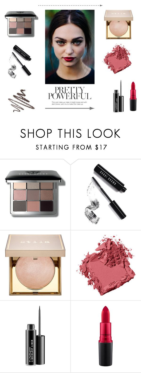 """""""Cute Make Up"""" by fashionharmonyblog ❤ liked on Polyvore featuring beauty, Bobbi Brown Cosmetics, Stila, MAC Cosmetics, Maybelline, BeautyTrend, Beauty, Model and trend"""