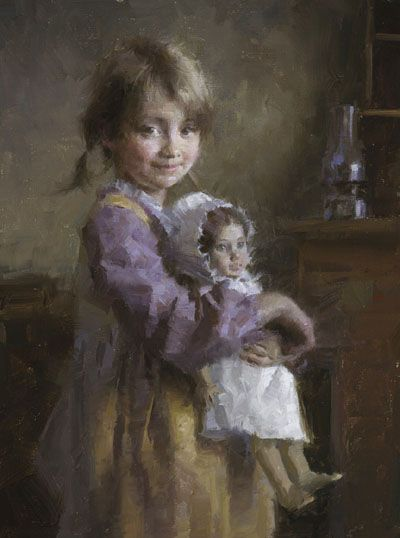 """""""Kaitlyn's Doll"""" ... by Morgan Weistling   I LOVE this artist"""