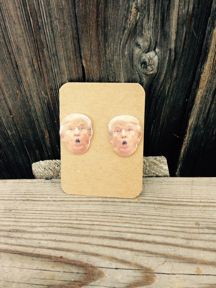 Donald Trump Face Earrings - Donald Donald Trump Earrings - Funny Donald Trump - presidential election 2016 - candidates 2016 by 3rdTimeCharms on Etsy