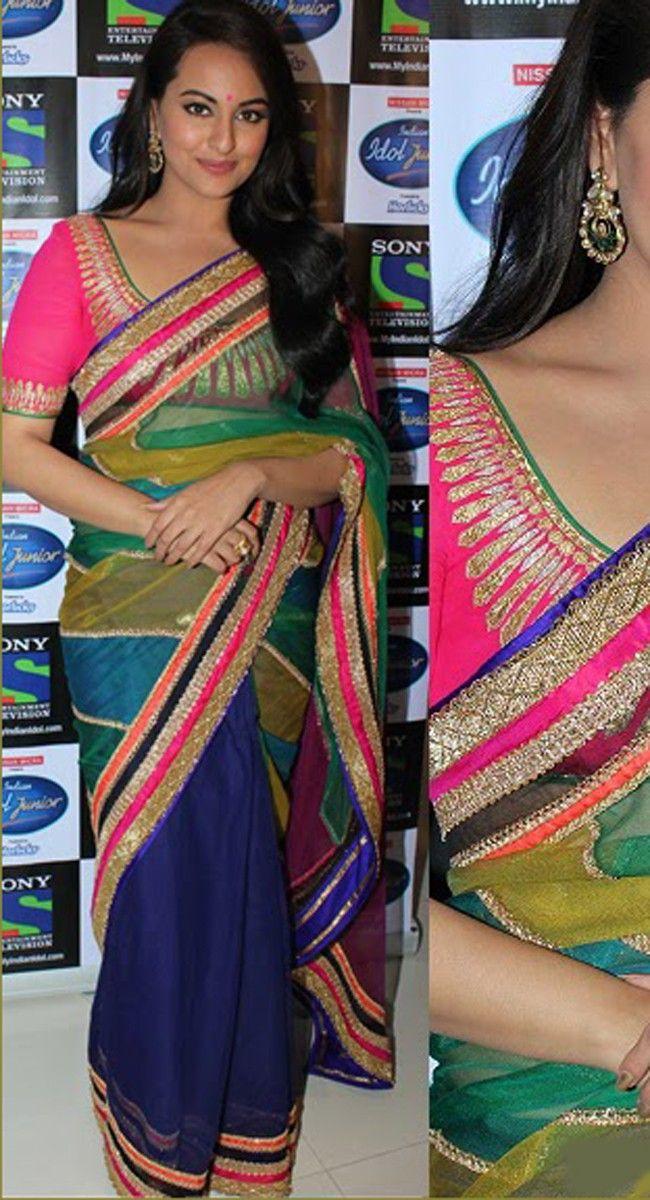 Sonakshi Sinha Designer Bollywood Replica Multi Saree