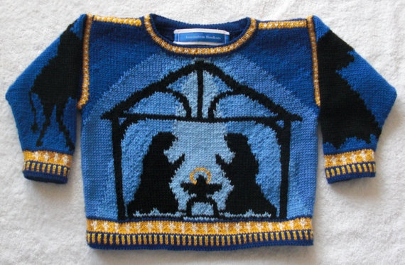 Two Year Creche sweater by amarinalevin