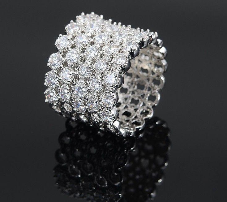 2015 платины покрытием обручальное кольцо перста мода ювелирные изделия.