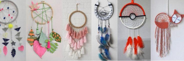 22 Inspiraties om dromenvangers te maken – voor kinderen – Textiel atelier