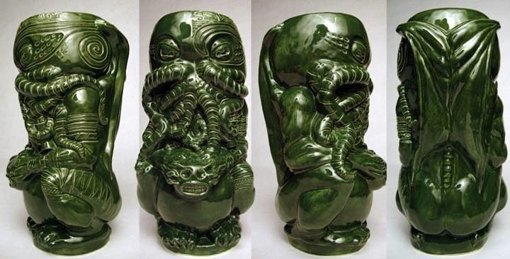 The Lovecraftsman: The Horror In Clay: A Cthulhu tiki mug. If some kind soul would please get much me a matched set, I would be so grateful!