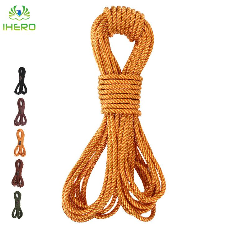 8mm Nylon Static Rope Lifeline Rescue Rope Outdoor Downhill Climbing Equipment 16KN 10m/pcs