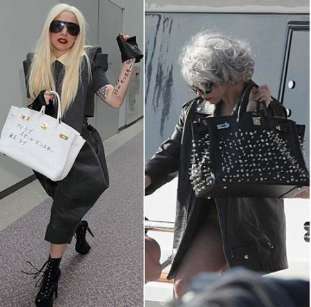 Lady Gaga con la Birkin di Hermes