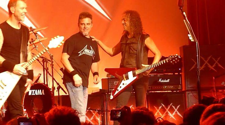 ~Original Metallica Bassist Ron McGovney With James And Kirk~