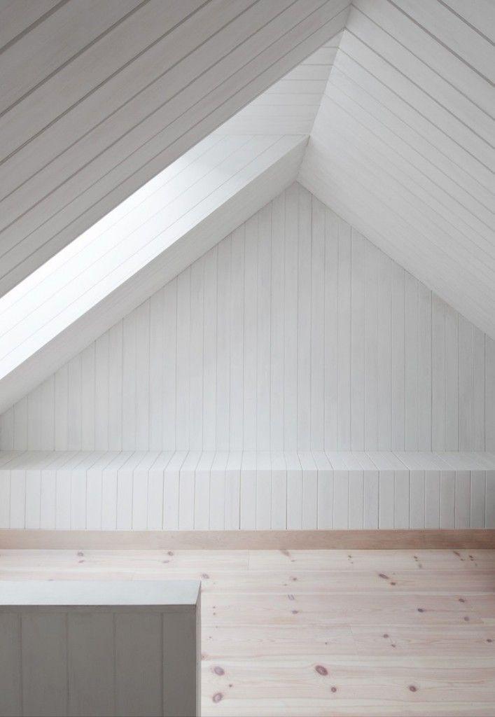 Minimalist Scandinavian interior design of Vega Cottage by Kolman Boye