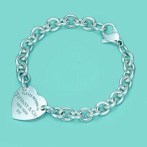 Piastrina a cuore media Return to Tiffany™ su bracciale, in argento, medio.