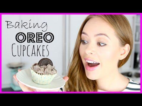 Baking Oreo Cupcakes! | Tanya Burr - YouTube