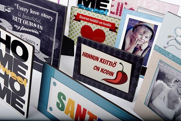 Kuva + kehys = kehyskuva. Ideoita lahjaksi ja sisustukseen! - http://www.ifolor.fi/inspire_kehyskuvan_uudet_ideat