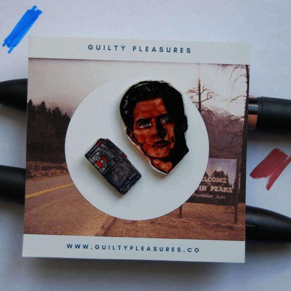 Agent Cooper Pin. Twin Peaks Pin.