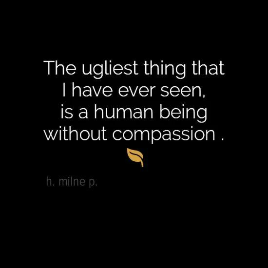 Exactly!!! Compassion, sympathy, empathy, selflessness, etc. are the biggest signs of a person with a good soul and a big heart!