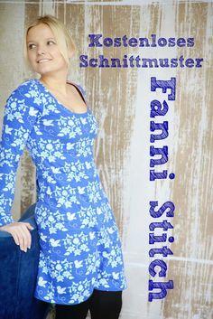 Kostenloses Schnittmuster Kleid Gesehen bei: http://www.pechundschwefel.eu/kostenlose-anleitung-zum-schnittmuster-fanni-stitch/