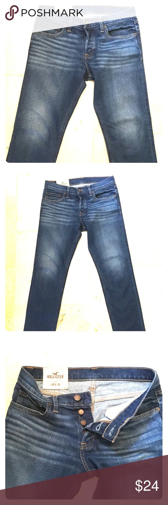 Men's Hollister super skinny jeans Worn once-excellent condition Hollister Jeans Skinny
