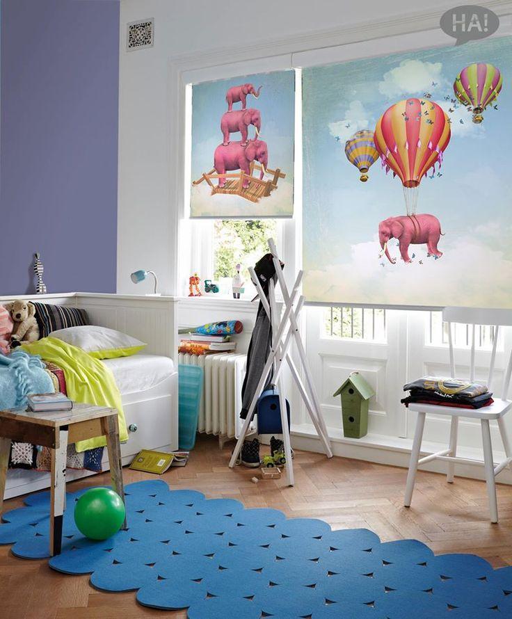 Όμορφες χαρούμενες ρολοκουρτίνες!  Ρολοκουρτίνες: http://www.houseart.gr/rolokourtines/23  #houseart #roller #curtain #elephants #kids_room #decoration