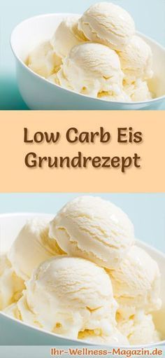 Grundrezept für selbstgemachtes Low Carb Eis - ein einfaches Eisrezept für kalorienreduzierte, kohlenhydratarme und gesunde Eiscreme ohne Zusatz von Zucker ...