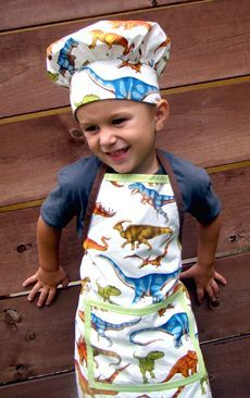 toddler boy homemade aprons | Boys apron would be fun. Scrap the chef hat, but the apron-yes. More                                                                                                                                                                                 More