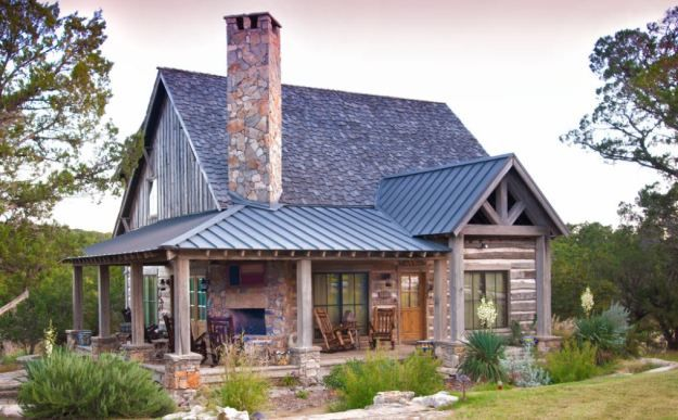 Metal Roofing Cost Vs Asphalt Shingles Metal Roof Prices 2019 Modern Farmhouse Exterior Stone Cabin House Exterior