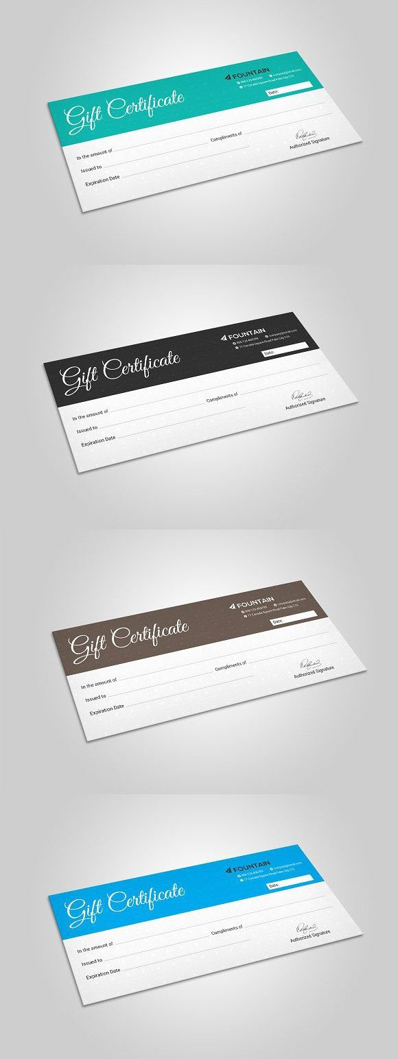 best ideas about gift voucher design gift gift certificate
